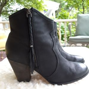 Black ALDO Duster ankle boots